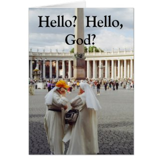 Two Nuns talk 2 God Cards