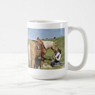 Two Of A Kind: Gorgeous Palomino & Cowgirl Coffee Mug