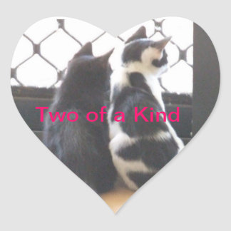 Two of a Kind Heart Sticker
