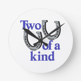 Two of a Kind Round Clock