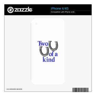 Two of a Kind Decal For The iPhone 4S