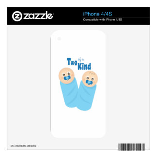 Two of a Kind iPhone 4S Skin