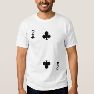 Two of Clubs Playing Card Shirt