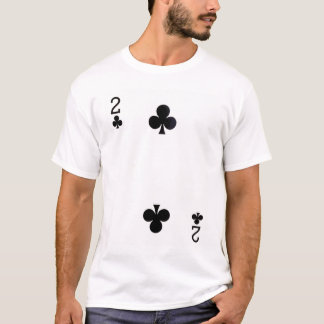 Two of Clubs Playing Card T-Shirt