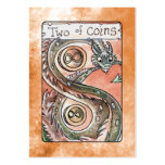 Two of Coins Large Business Card