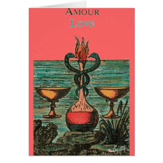 TWO OF CUPS TAROT CARD DESIGN