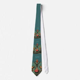 TWO OF CUPS TAROT CARD DESIGN NECK TIE