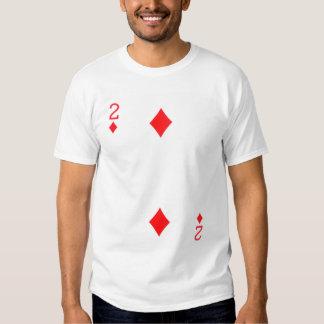 Two of Diamonds Playing Card T-Shirt