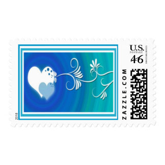 'Two of Hearts' Stamp