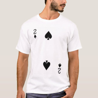 Two of Spades Playing Card T-Shirt