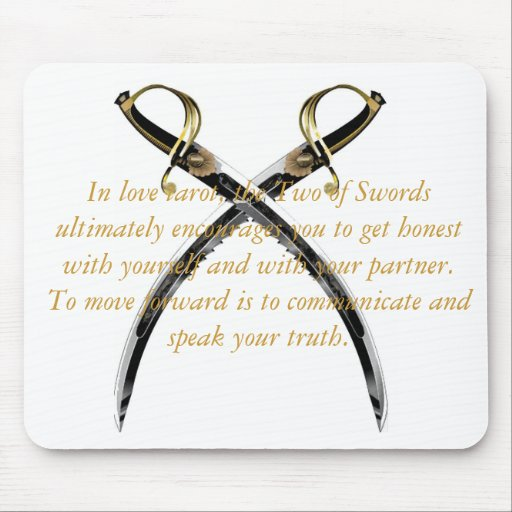 TWO OF SWORDS BY LIZ LOZ MOUSE PAD