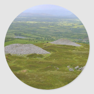 Two Of The Carrowkeel Tombs Round Stickers