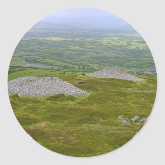 Two Of The Carrowkeel Tombs Round Sticker