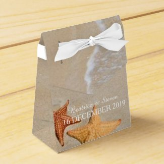 Two of us Beach/Destination Wedding Personalized Party Favor Box