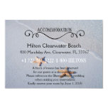 Two of Us   Beach Wedding Accommodation Directions 3.5x5 Paper Invitation Card