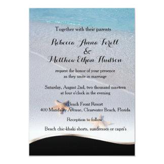 Two of Us/Ocean Love Starfish Beach Wedding Invite