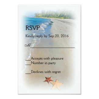 Two of Us | Ocean Love Starfish Response RSVP Card Announcements