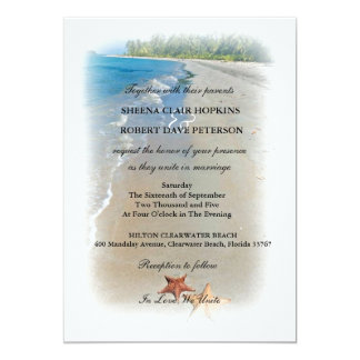 Two of Us | Ocean Love Starfish Wedding Personalized Announcements
