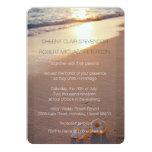 "Two of us / Plumeria Beach Sunset Wedding Invites 5"" X 7"" Invitation Card"