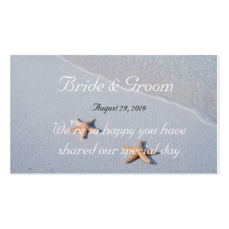 Two of Us Star Fish Beach Wedding Favor 100 Tags Pack Of Standard Business Cards