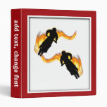 Two Off Road Dirt Bikes with Flames Vinyl Binder