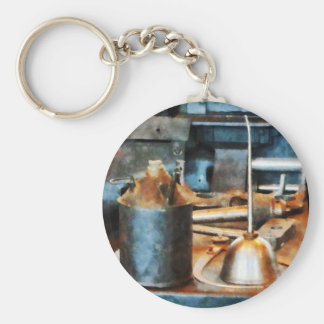 Two Oil Cans Key Chains