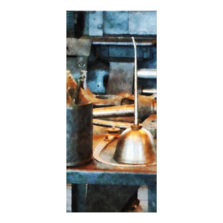 Two Oil Cans Rack Card