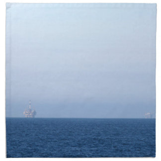 Two Oil Rigs Cloth Napkin
