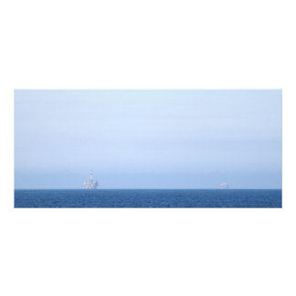 Two Oil Rigs Customized Rack Card