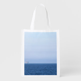 Two Oil Rigs Reusable Grocery Bag