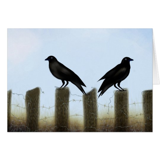 Two Old Crows Card