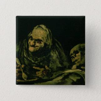 Two Old Men Eating Pinback Button
