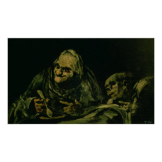 Two Old Men Eating Poster