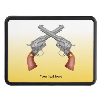 Two old west crossed pistols - Revolver Trailer Hitch Cover