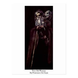 Two Old Woman By Francisco De Goya Postcards