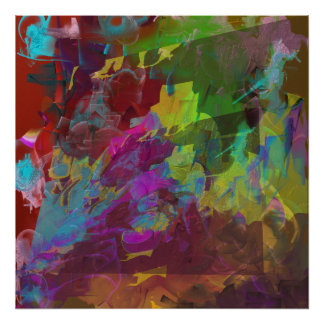 Two on One - Deep Mysterious Abstract Poster