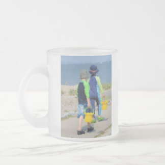 Two on the Beach 10 Oz Frosted Glass Coffee Mug