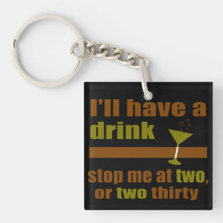 Two or Two Thirty Double-Sided Square Acrylic Keychain