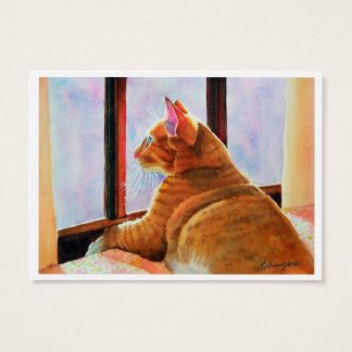 Two Orange Cats Double-sided ACEO Print Business Card