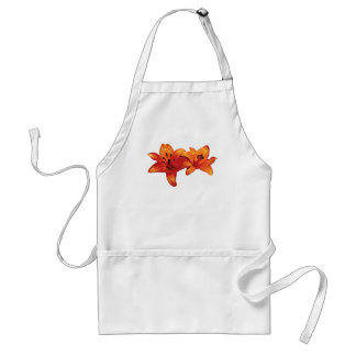 Two Orange Lilies Adult Apron