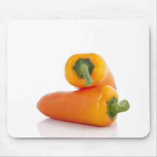 Two Orange Peppers Mousepad
