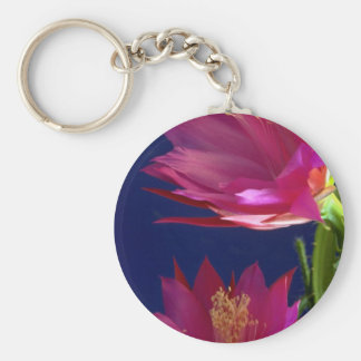 Two orchid cactus blooms keychains