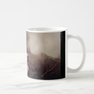 Two Orchids and a Mountain landscape Coffee Mug