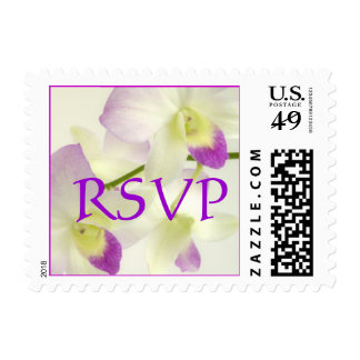 Two Orchids, RSVP Stamp