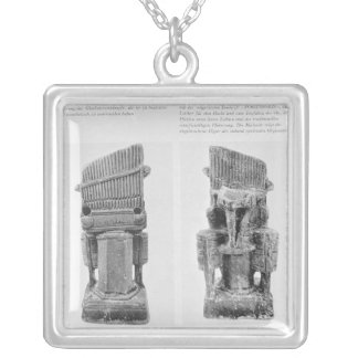 Two organs silver plated necklace