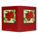 Two Oriental Poppies binder