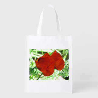 Two Oriental Poppies Grocery Bag