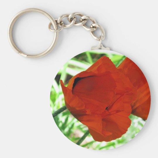 Two Oriental Poppies Keychain