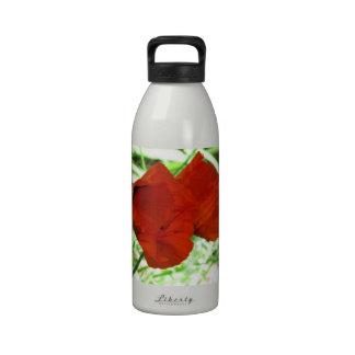 Two Oriental Poppies Reusable Water Bottle