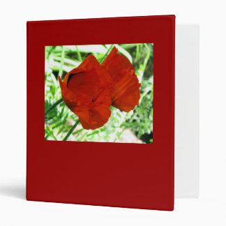 Two Oriental Poppies Vinyl Binders